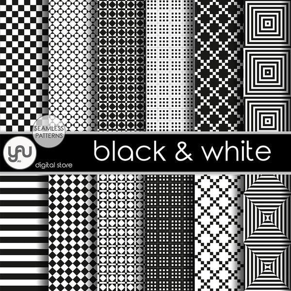 Digital paper | Imagini digitale - BLACK and WHITE - DP17