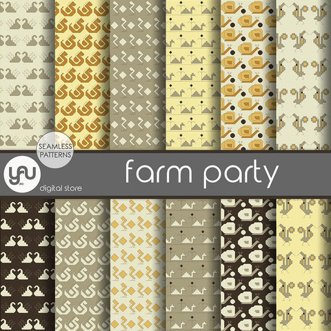 Digital paper | Imagini digitale - FARM PARTY - DP4