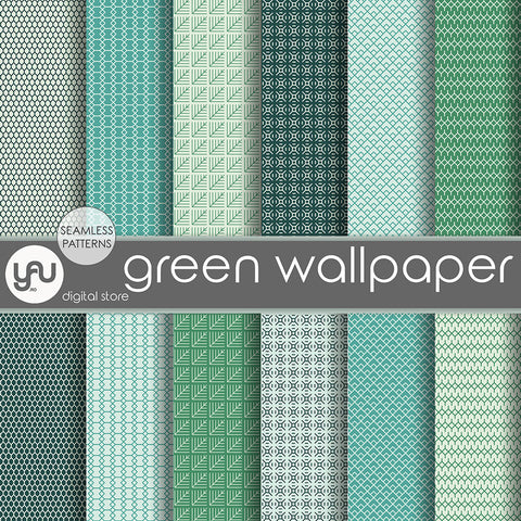 Digital paper | Imagini digitale - GREEN WALLPAPER - DP7