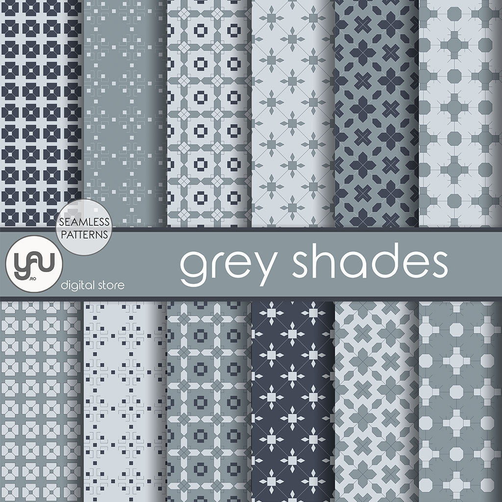 Digital paper | Imagini digitale - GREY SHADES - DP16