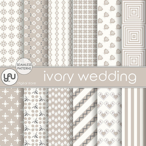 Digital paper | Imagini digitale - IVORY WEDDING - DP29