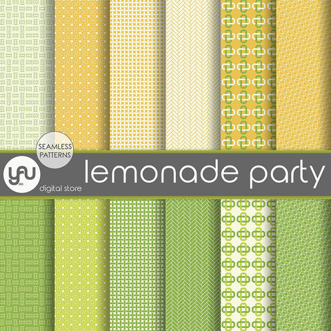 Digital paper | Imagini digitale - LEMONADE PARTY - DP13