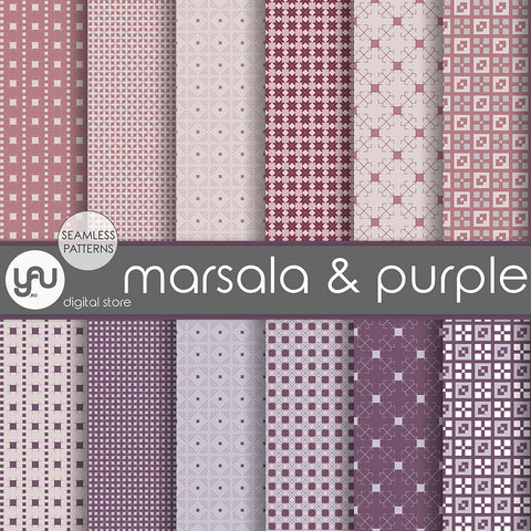 Digital paper | Imagini digitale - MARSALA and PURPLE - DP14