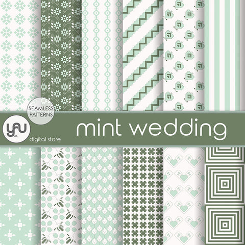 Digital paper | Imagini digitale - MINT WEDDING - DP30