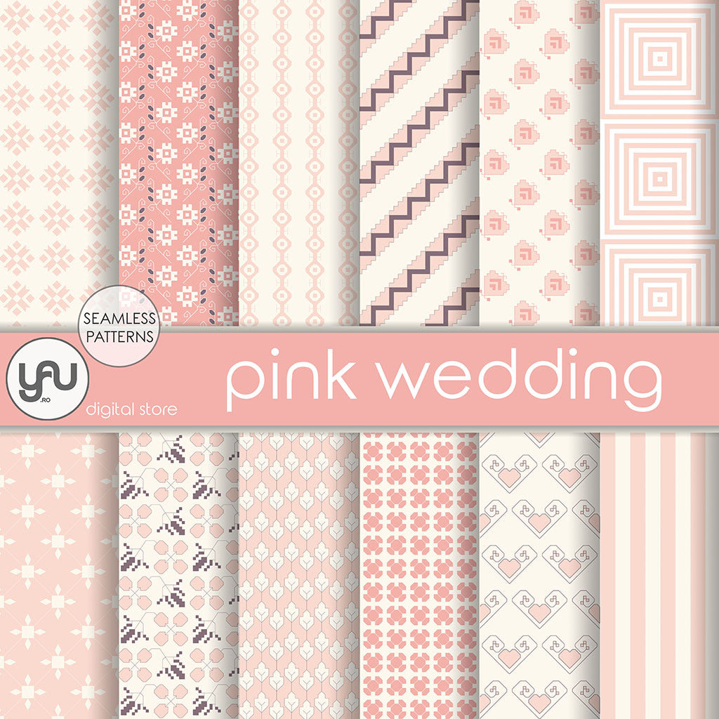 Digital paper | Imagini digitale - PINK WEDDING - DP31