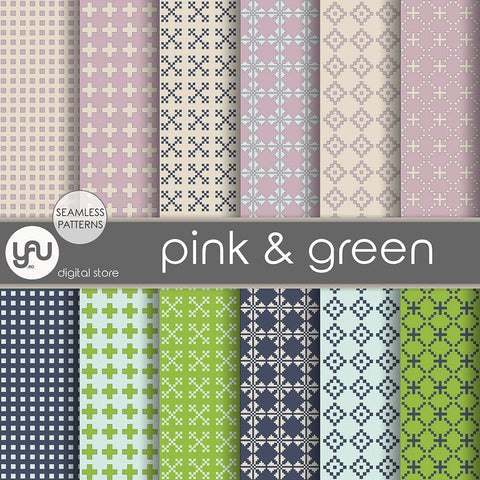 Digital paper | Imagini digitale - PINK and GREEN - DP9