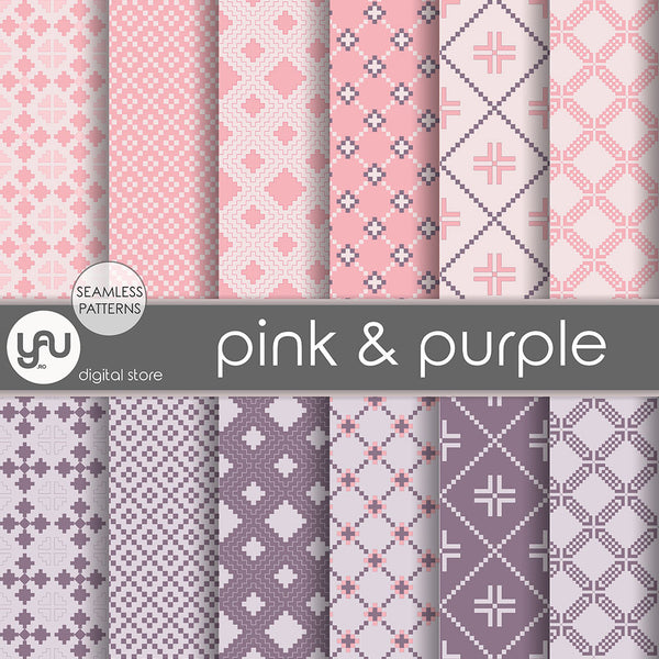 Digital paper | Imagini digitale - PINK and PURPLE - DP18
