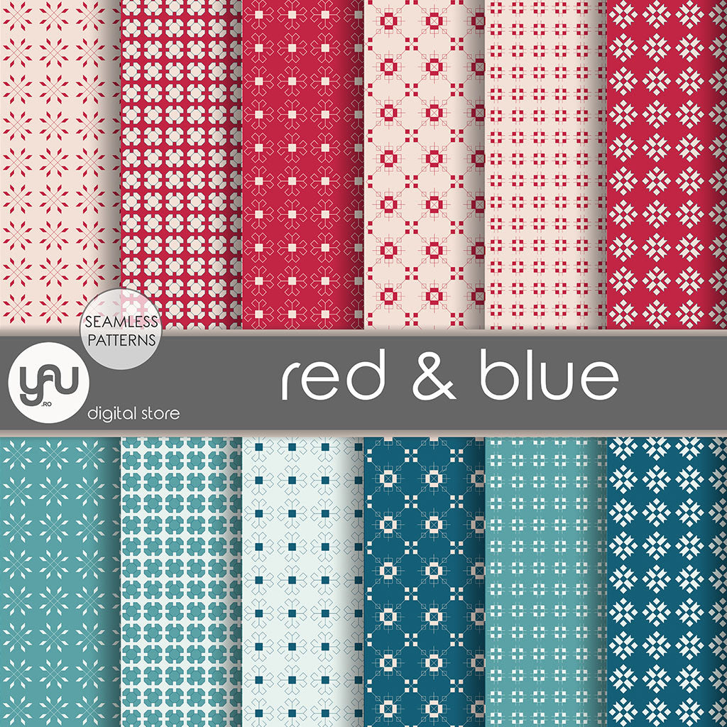 Digital paper | Imagini digitale - RED and BLUE - DP10