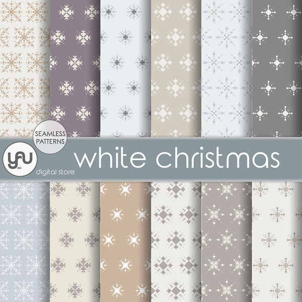 Digital paper | Imagini digitale - WHITE CHRISTMAS - DP25