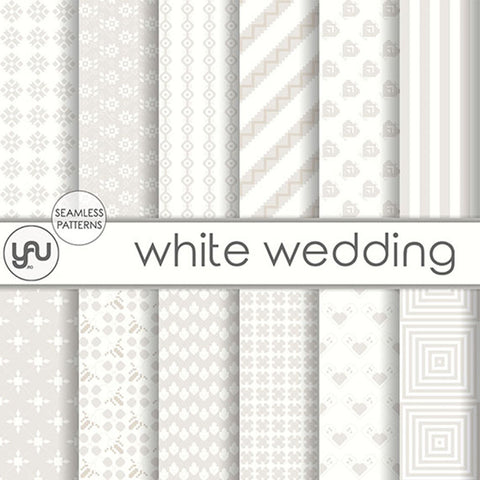 Digital paper | Imagini digitale - WHITE WEDDING - DP32