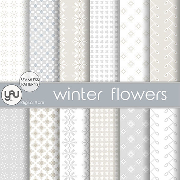 Digital paper | Imagini digitale - WINTER FLOWERS - DP26