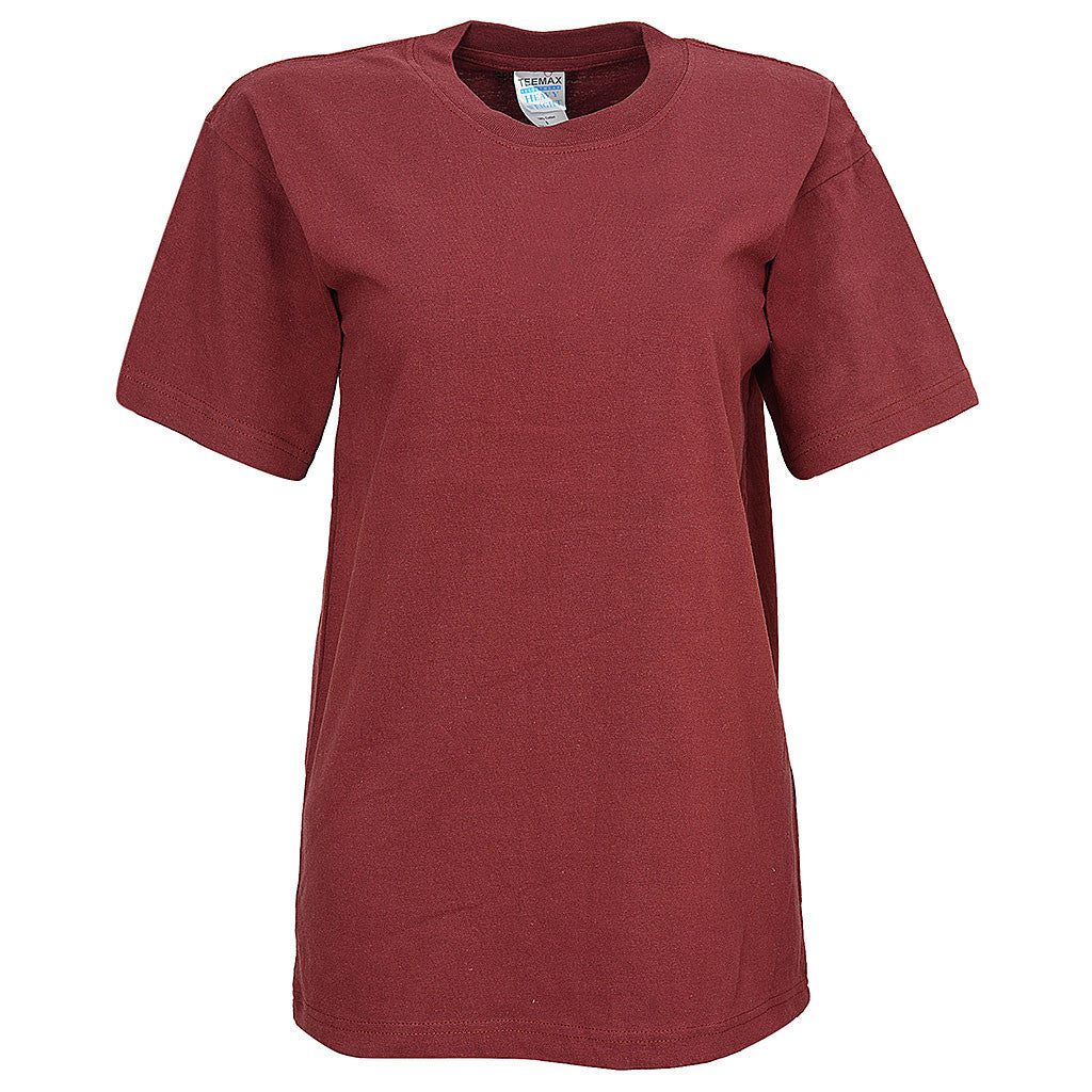 Womens Short Sleeve Tee (BURGUNDY)