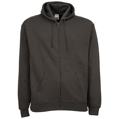 Mens Zip Hoodie: Dark Gray, Charcoal
