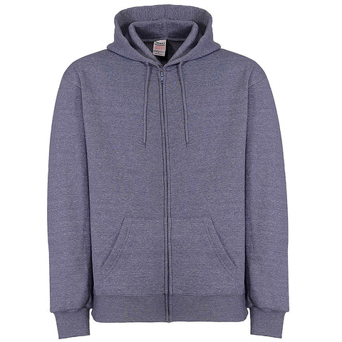 Mens Zip Hoodie (HEATHER BLUE) - Teemax