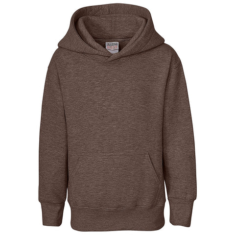 Boys Pullover Hoodie (HEATHER BROWN)