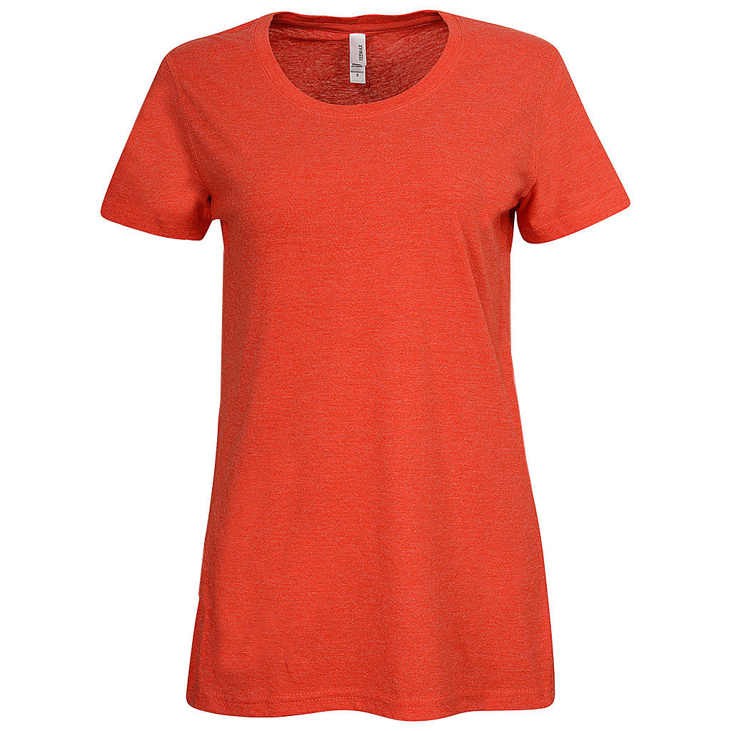 Women Scoop Neck Tee (ORANGE RED)