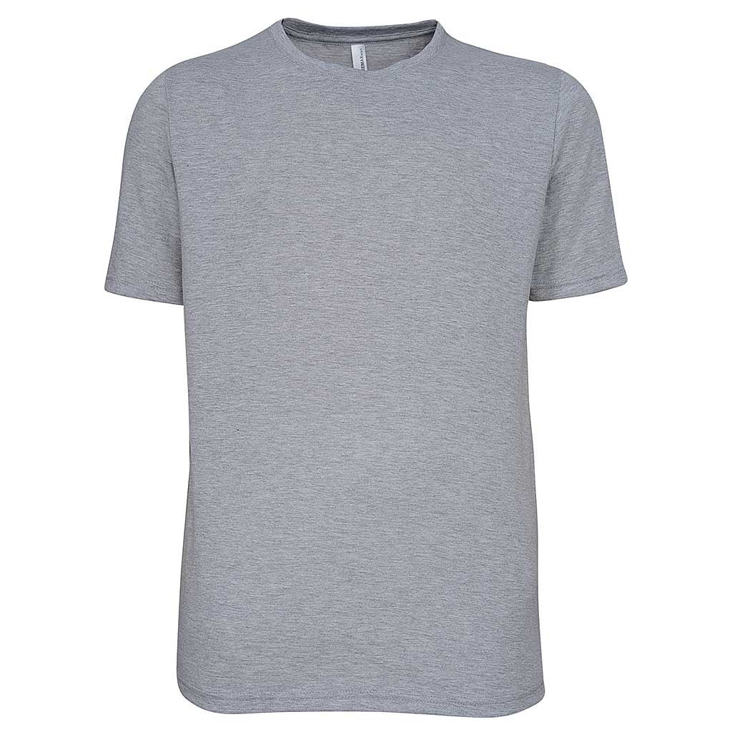 Mens Soft T Shirt ash grey heather