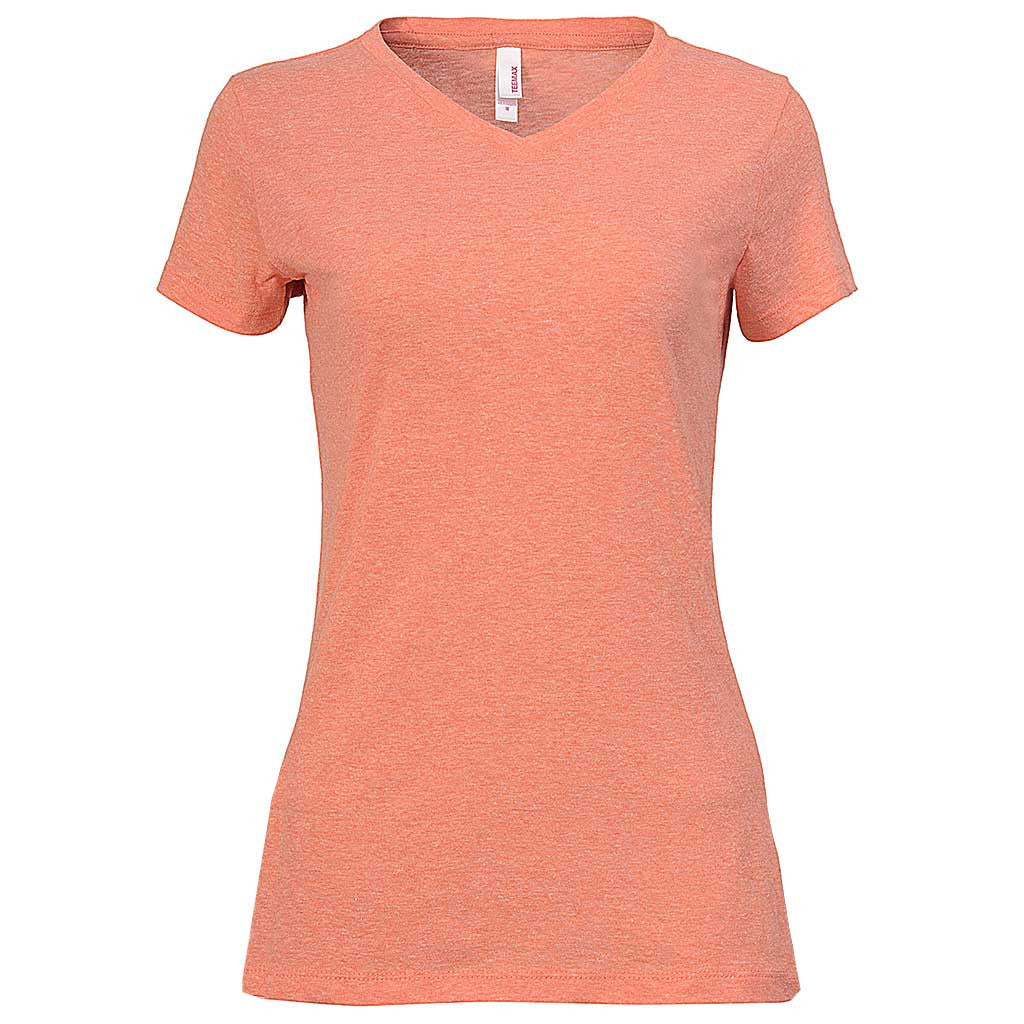 Trendy Juniors Fit V-Neck Tee (HEATHER ORANGE)