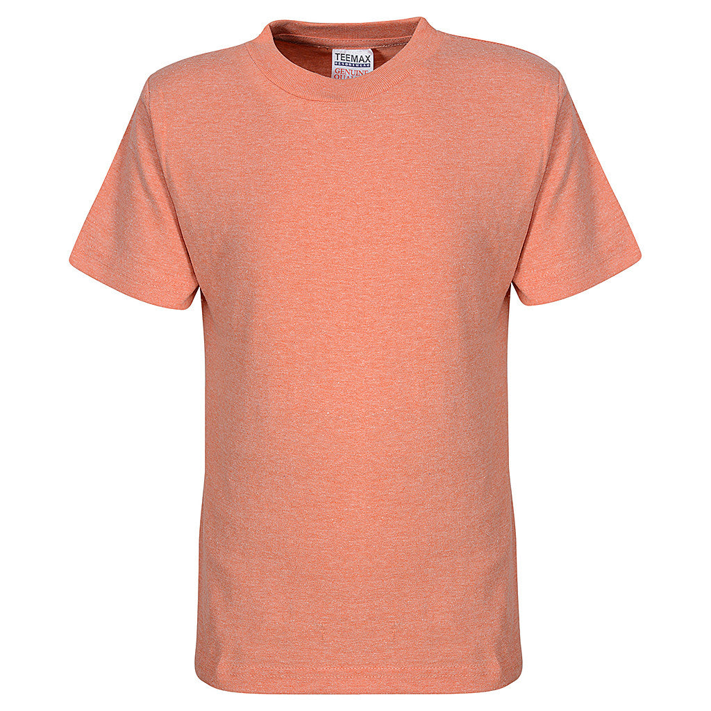 Toddler Boys Girls T Shirt (HEATHER ORANGE)
