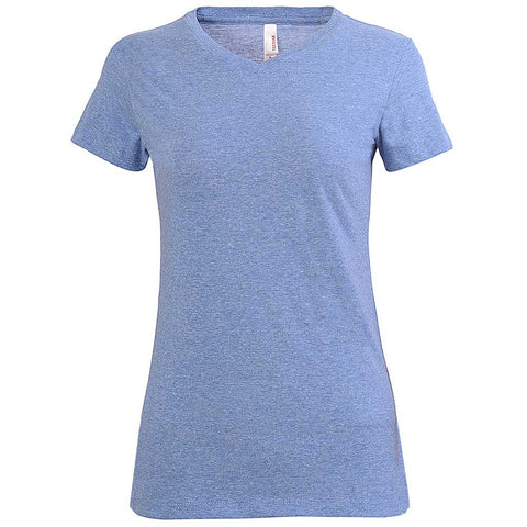 Trendy Juniors Fit V-Neck Tee (HEATHER ROYAL)