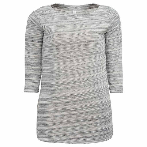 Womens Boat Neck Top (CHARCOAL)