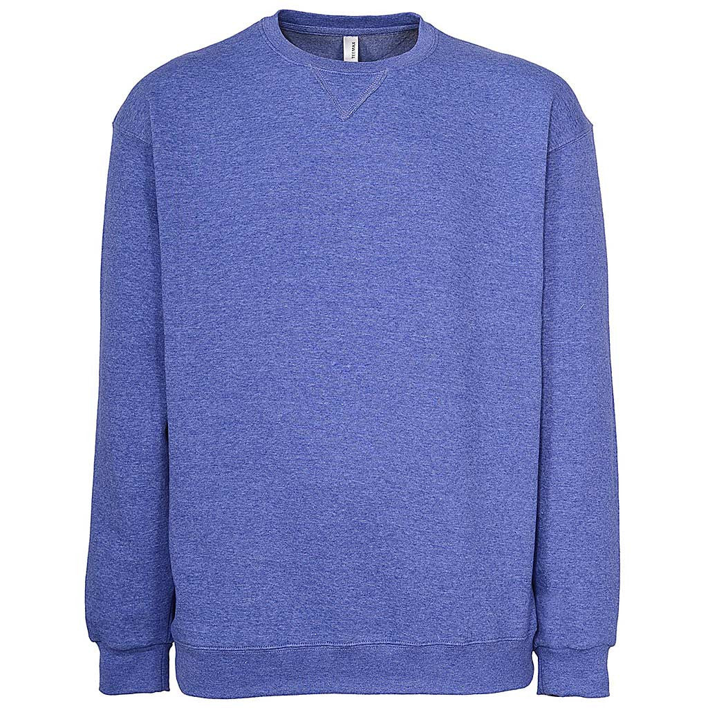 Mens Pullover Sweathshirt: Bright Blue. Violet