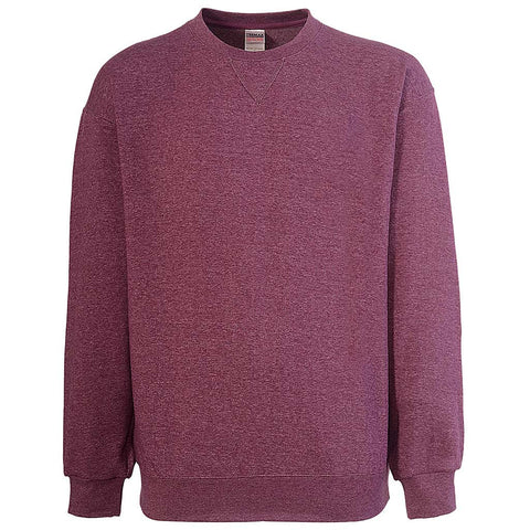 Mens Crew Neck Sweatshirt Purple: Teemax