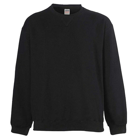 Mens Black Crew Neck Sweatshirt: Teemax