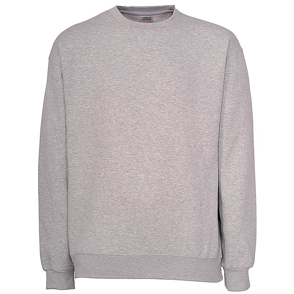 Mens Crew Neck Sweatshirt. Heather Gray. Ash