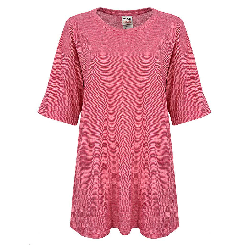 Womens Microstripe Shirt (PIN HEATHER FUCHSIA)