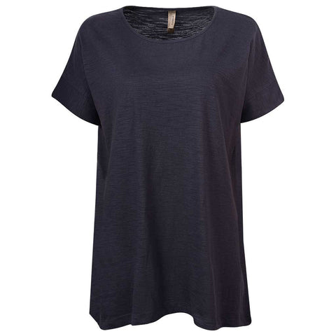 Womens Draped T Shirt: Dark Gray
