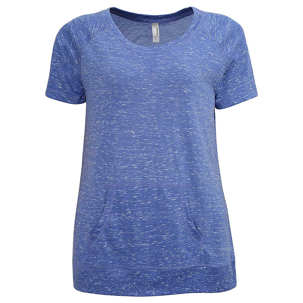 Womens Kangaroo Pocket T Shirt. (Lavender PURPLE).