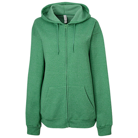 Womens Twisted Fleece Full Zip (TW GREEN)