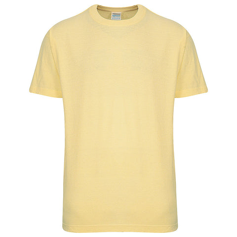 Mens Short Sleeve T Shirt (VANILLA YELLOW) - Teemax
