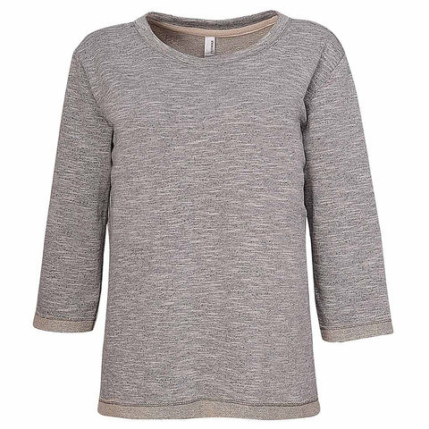 Womens Gray Sweater Sweatshirt. Half Sleeve 3/4