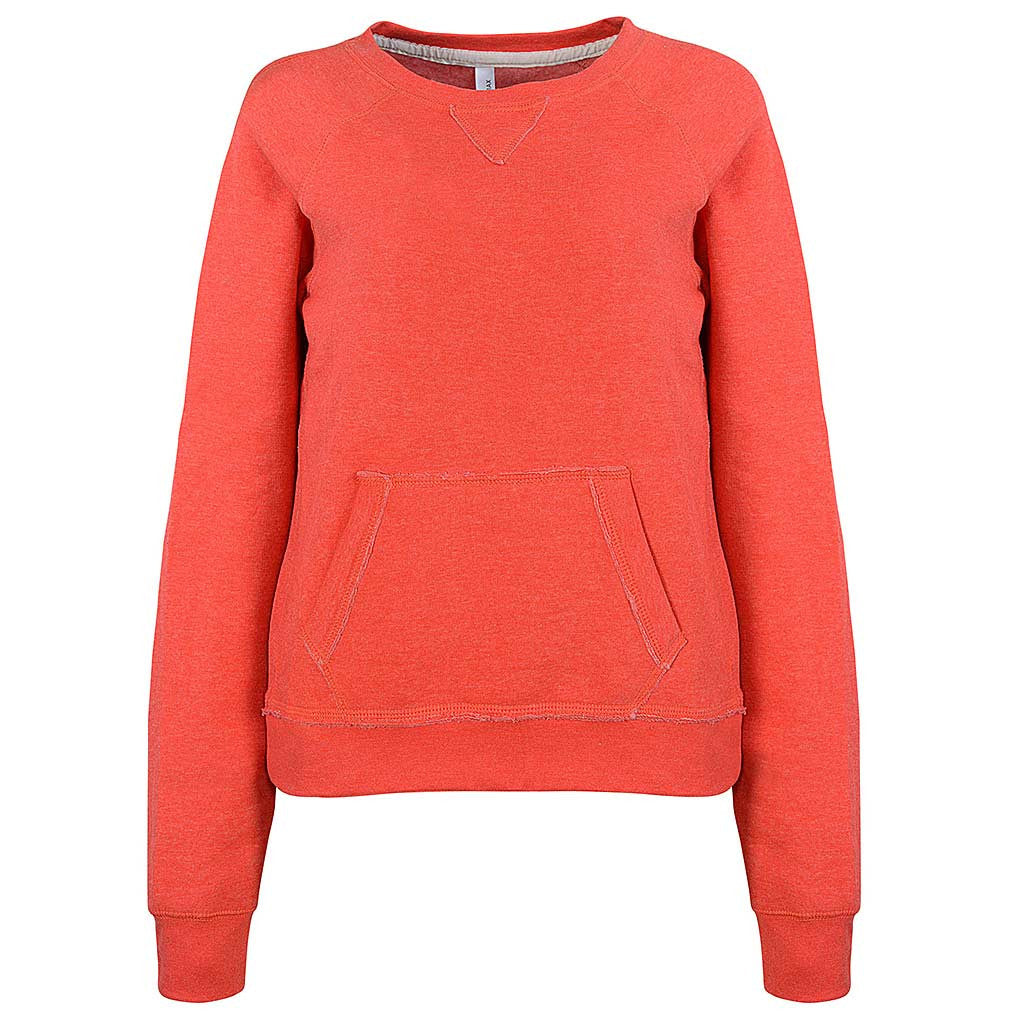 Womens Pullover Sweatshirt. Orange