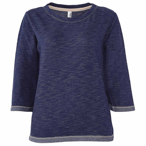 Womens Navy Blue Sweatshirt Sweater. Half Sleeve