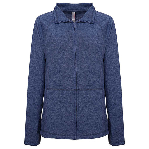 Womens Navy Blue Zip Light Jacket