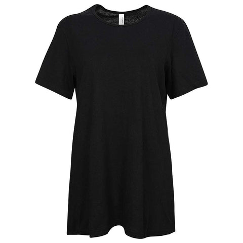 Womens Oversized T-Shirt. Black