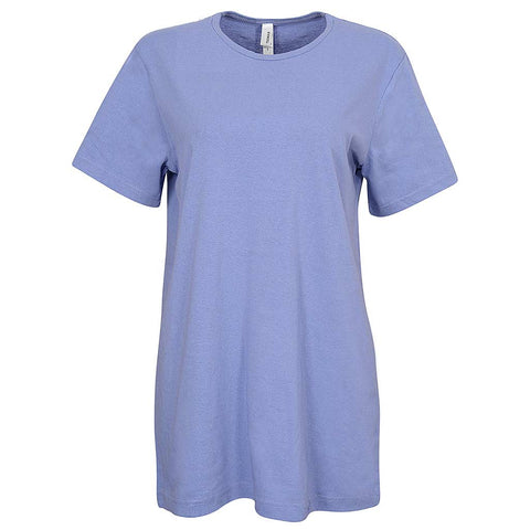 Big Oversized T-Shirt. Lavender Purple. Womens