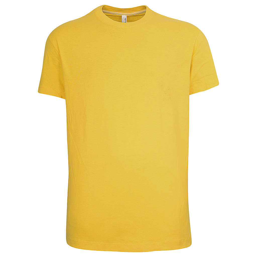 Mens Short Sleeve T Shirt (YELLOW) - Teemax
