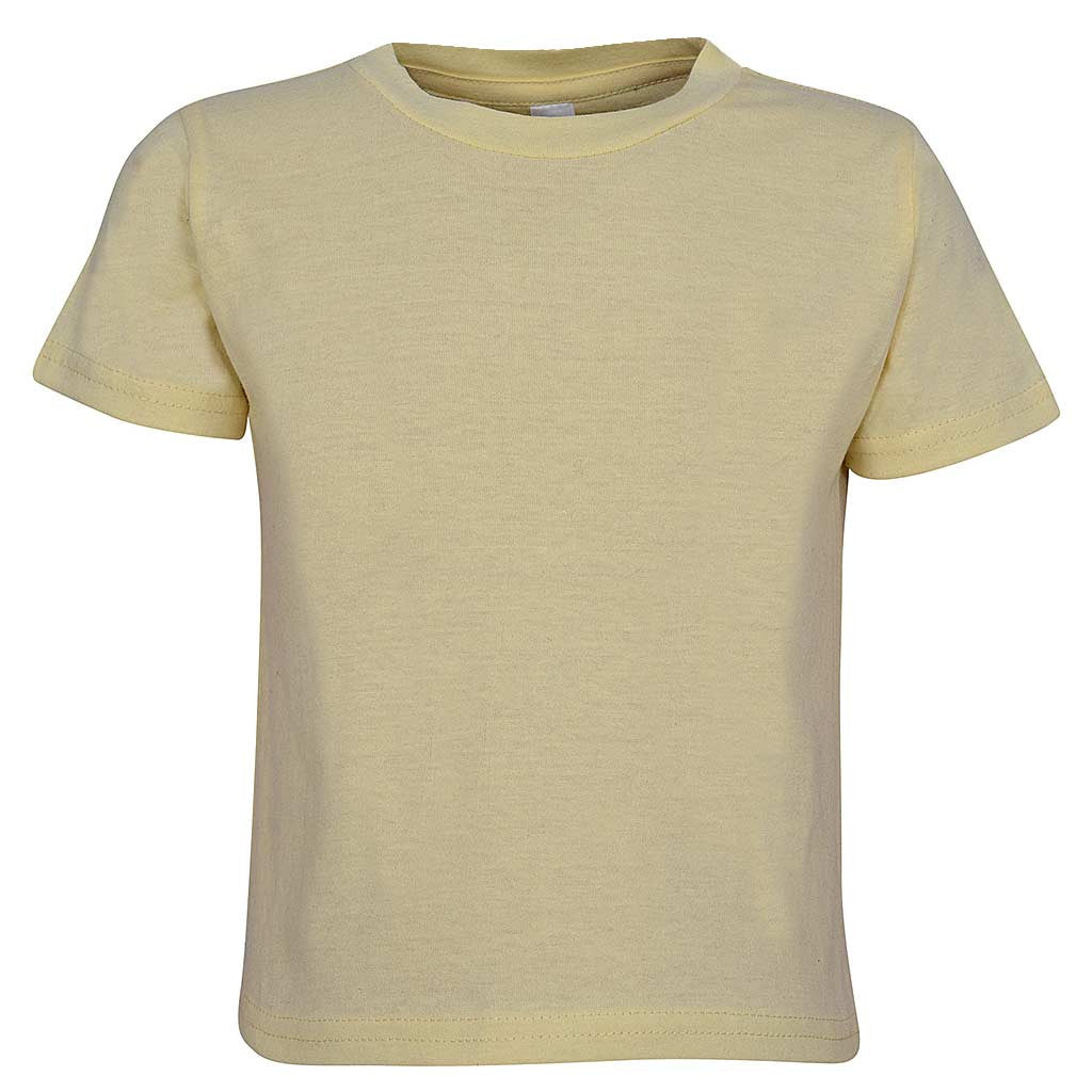Babies T-Shirt Tee Pale Vanilla Yellow