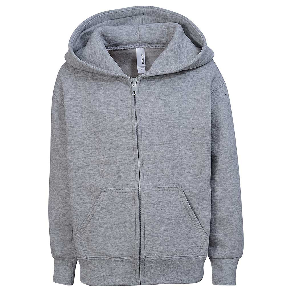 Toddler Boys Zip Hoodie. Heather Gray