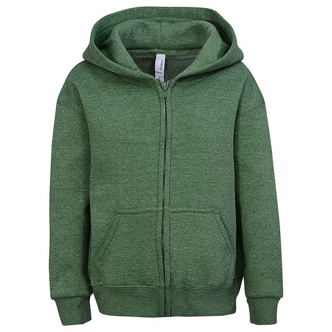 Toddler Boys Heather Green Zip Hoodie