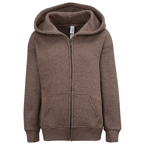 Toddler Boy Girls Zip Brown Hoodie