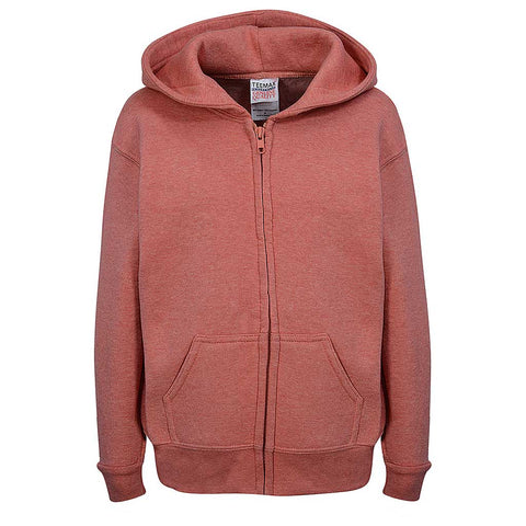 Toddler Zip Hoodie Heather Orange