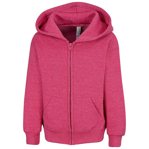 Toddler Girls Zip Hoodie Fuchsia Pink