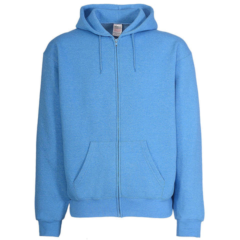 Mens Bright Sky Blue Zip Up Hoodie