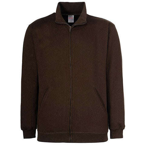 Mens Zip Track Jacket: Brown