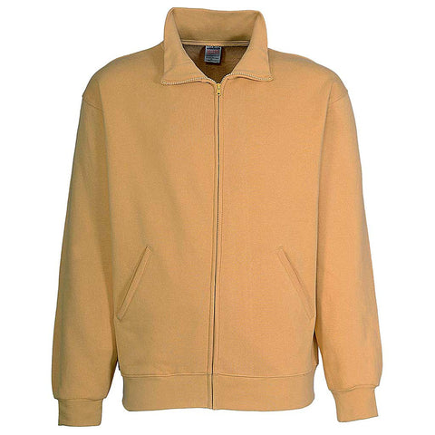 Mens Zipper Track Jacket: Butter Yellow